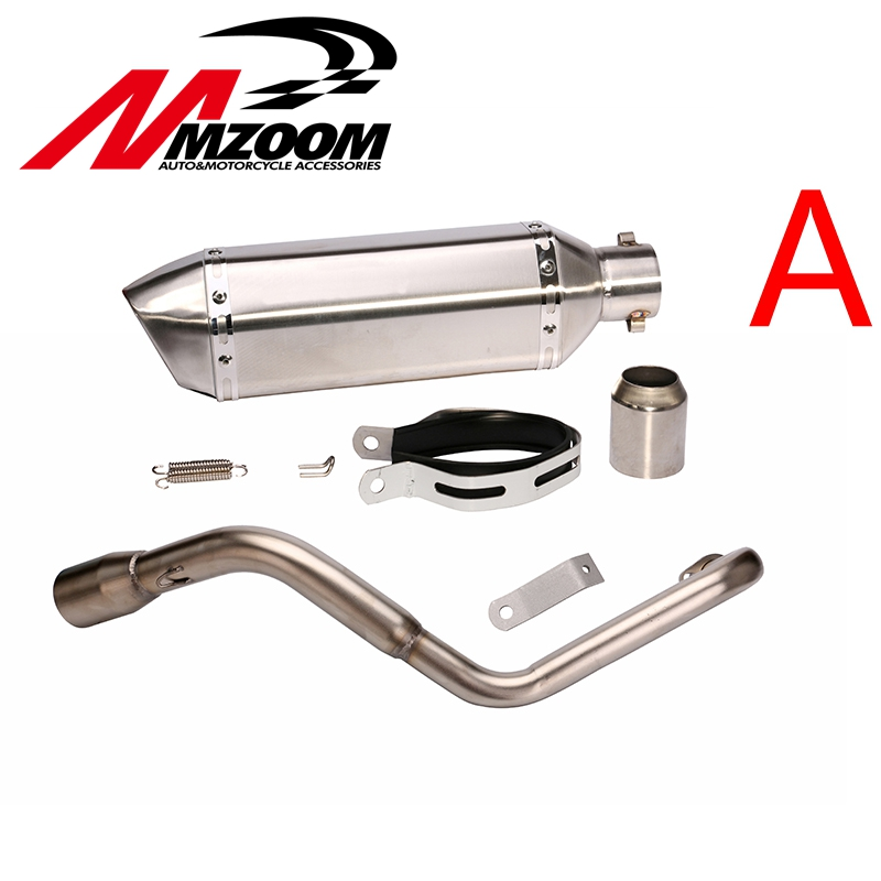 51mm Motorcycle Modified Exhaust pipe Muffler Exhaust scooter + Exhaust System Vent Pipe Stainless Fit for HONDA MSX 125