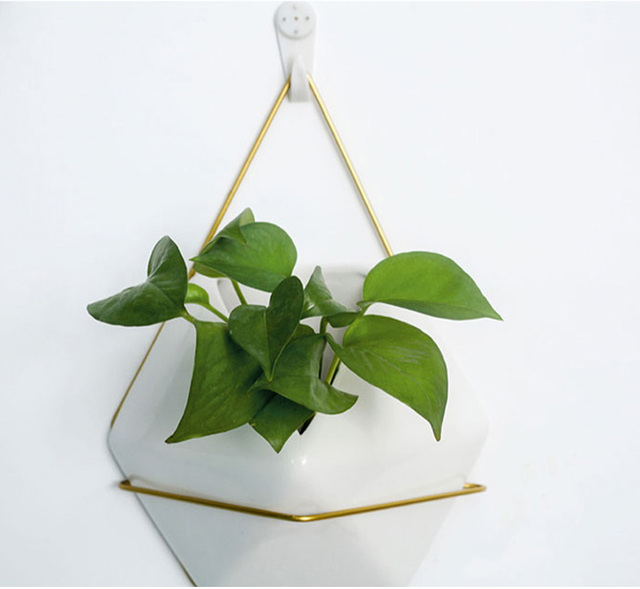 Hanging White Flower Pot