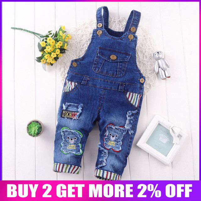 6def985d036 BibiCola Spring Children Overall Pants Baby Boys Pants Kids Jeans Overalls  Jumpsuits Cotton Denim Bib Pants Trousers for girls