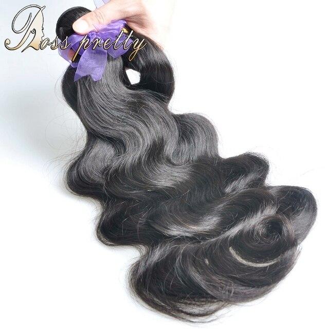 Ross Pretty 3 шт. Бразильские объемная волна природные Бразильский Девственные Волосы переплетения человеческих волос Качество бразильской пучки волос