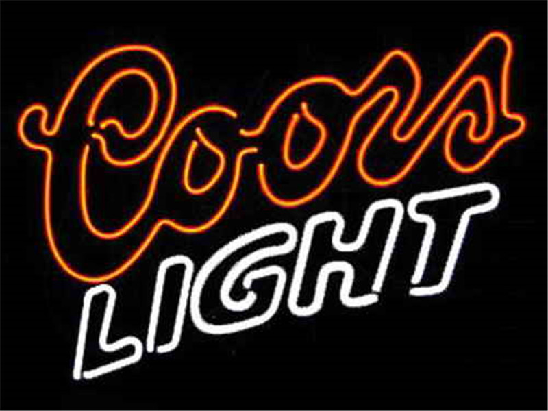 """17*14\"""" COORS LIGHT BEER NEON SIGN REAL GLASS BEER BAR PUB"""