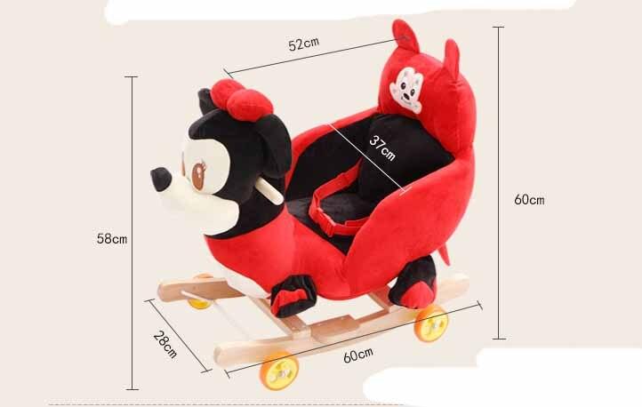 Детские качели плюшевая игрушка лошадь кресло качалка ребенка вышибала ребенка качели сиденье открытый детский бампер ребенок ездить на и... - 2