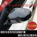 Высокое качество ABS Хром ABS углеродное волокно цвет крышка объектива заднего вида украшение крышка для Ford Focus 2012-2018 автомобильный Стайлинг