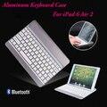 2016 Nueva Llegada Al Por Mayor ultra-delgada de Aleación de Aluminio Sin Hilos Delgado de Bluetooth Caja Del Teclado Para el ipad 6 Aire 2