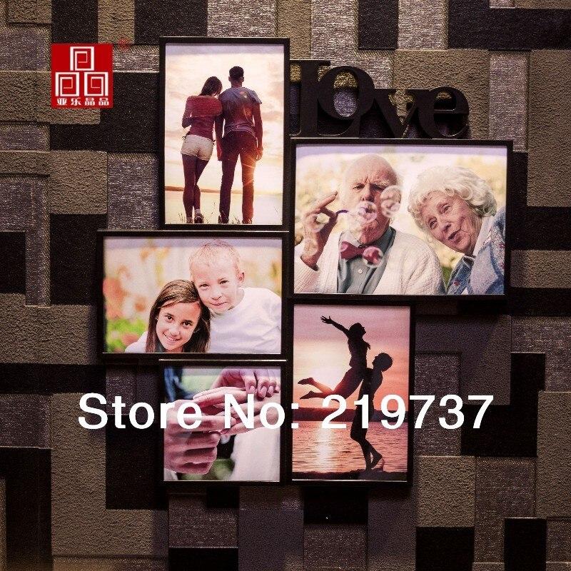 Moda ABS colgando cuadro de amor de columpios marco de fotos pared ...