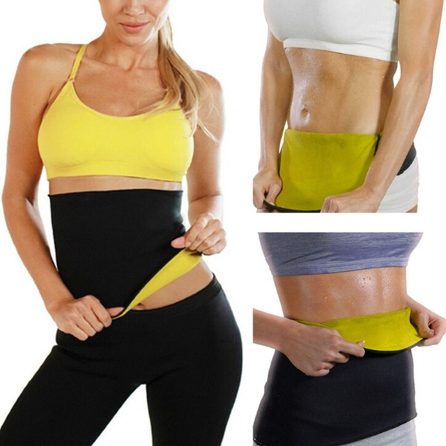 Hot Waist Band Gym Fitness Sports Exercise Waist Support Pressure Protector Body Building Belt Slim Item Sweat For Women