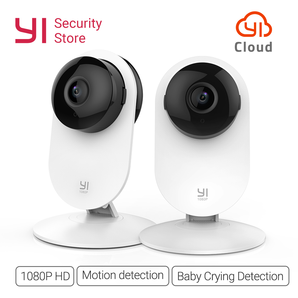 YI Home 1080P Camera 2PCS Night Vision Wireless IP Bayby Monitor Security Surveillance System WIFI Cam