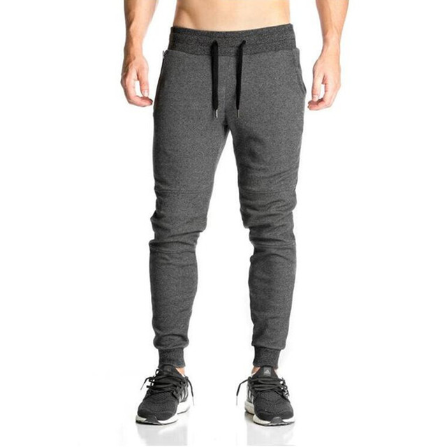 2018 Newest Mens Sweatpants Autumn Winter Man Gyms Fitness Bodybuilding Joggers workout trousers Male Casual cotton Pencil Pants