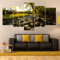 Various Sizes Pictures Autumn Scenery In The Mountains Printed Oil Painitings Wall Decoration Ideas For Living