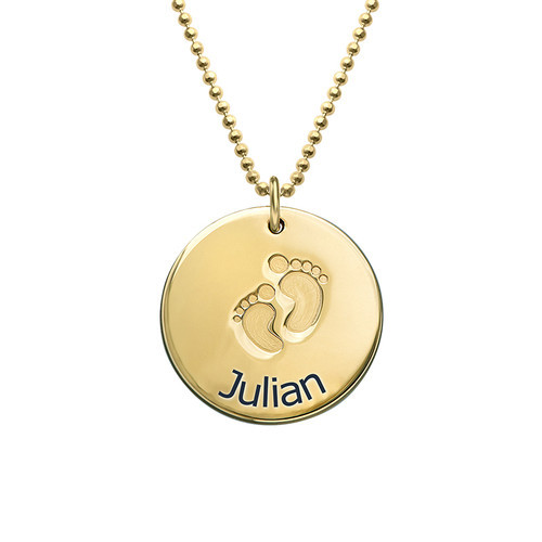 Gold color custom baby feet necklace new design fashion baby names gold color custom baby feet necklace new design fashion baby names pendant necklace for baby custom aloadofball Choice Image