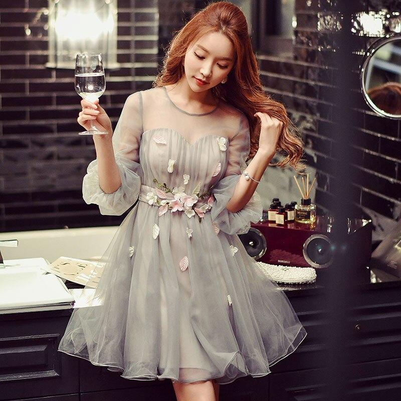 Оригинальный летнее платье Новинка 2017 больших размеров модные женские красивые аппликации Puff Платья Женская обувь оптом