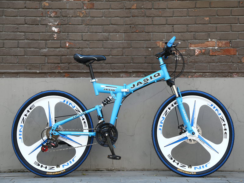 HTB1CDT0GeSSBuNjy0Flq6zBpVXau 26 inch mountain bike 21 speed Folding mountain bicycle double disc brake bike New folding mountain bike Suitable for adults