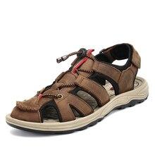 여름 샌들 남자 비치 신발 야외 슬리퍼 남자 나 막 신 신발 안티 스키드 하이킹 샌들 통기성 소프트 Crocse Sandalias Hombre