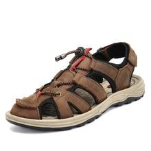 Sandálias de verão dos homens sapatos de praia ao ar livre chinelos homens tamancos sapatos anti skid caminhadas sandálias respirável macio crocse sandalias hombre