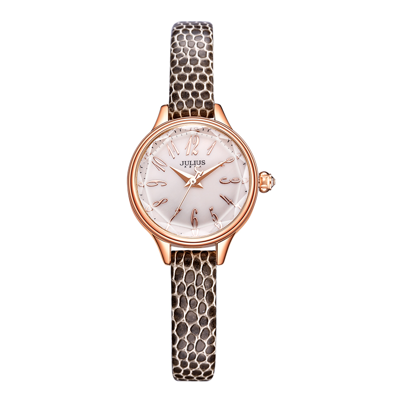 JULIUS 2016 Winter New Crocodile Genuine Leather Strap Rose Gold Watches Women Lady Fashion Dress Wrist Watch Hours Clock JA-932 jam tangan pria gold original