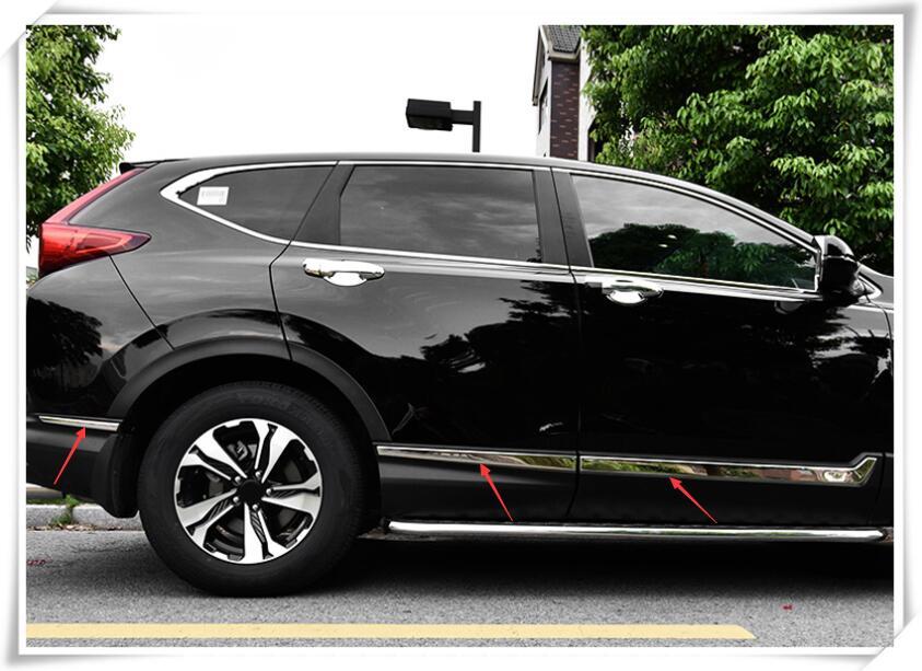 For Honda CR-V CRV 2017 2018 Stainless Side Door Body Molding Cover Trim 6pcs