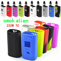 New 1pcs Fashion colorful silicone Soft case skin / silicone cover / silicone sleeve for Smok alien 220W kit Box mod Wrap