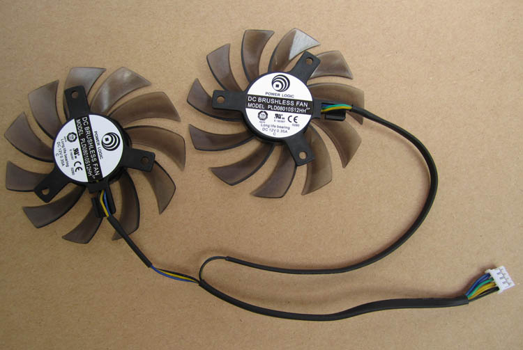 PLD08010S12HH For MSI 460GTX 560GTX 570GTX 580GTX R6790 R6870 R6850 graphics card fan