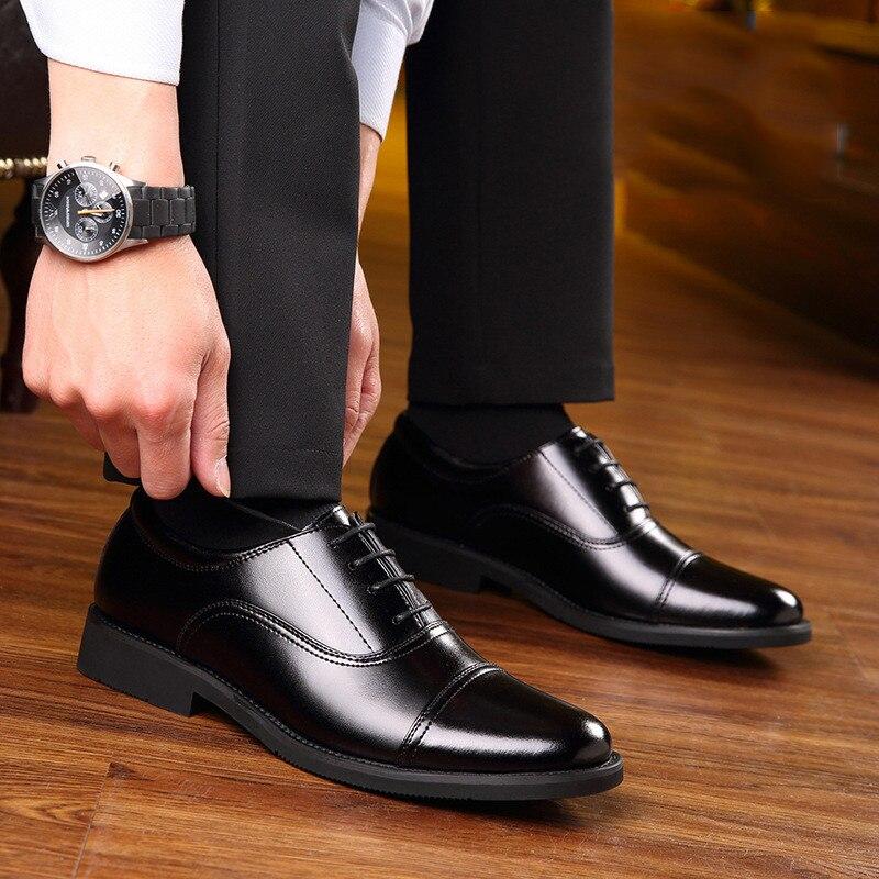 Hommes Haute Ms8107035 Printemps Cuir Confortable En Classique De Mode Noir  Luxe Chaussures Qualité rzRqr 5c51155de52
