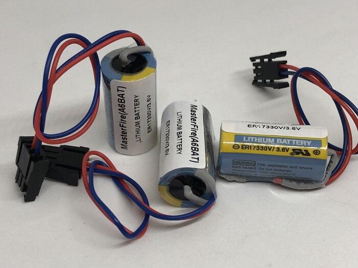 ER17330V ER17330V MasterFire 4 pçs/lote Novo Original 3.6 V/3.6 V Servo A6BAT PLC Bateria de Lítio