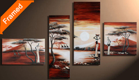 Landscape painting African woman oil painting modern home decoration wall pictures for living room reproduction artwork