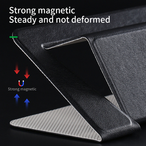 Image 4 - PU Laptop Stand Portable Notebook Holder for Apple MacBook Air Pro chromebook HP laptop 11 15 inches Folding Computer Table