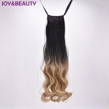 Радость и красоты смешанный цвет синтетические волосы длинные волнистые коготь хвостики 22 дюймов конский хвост термостойкие для женщин Парик