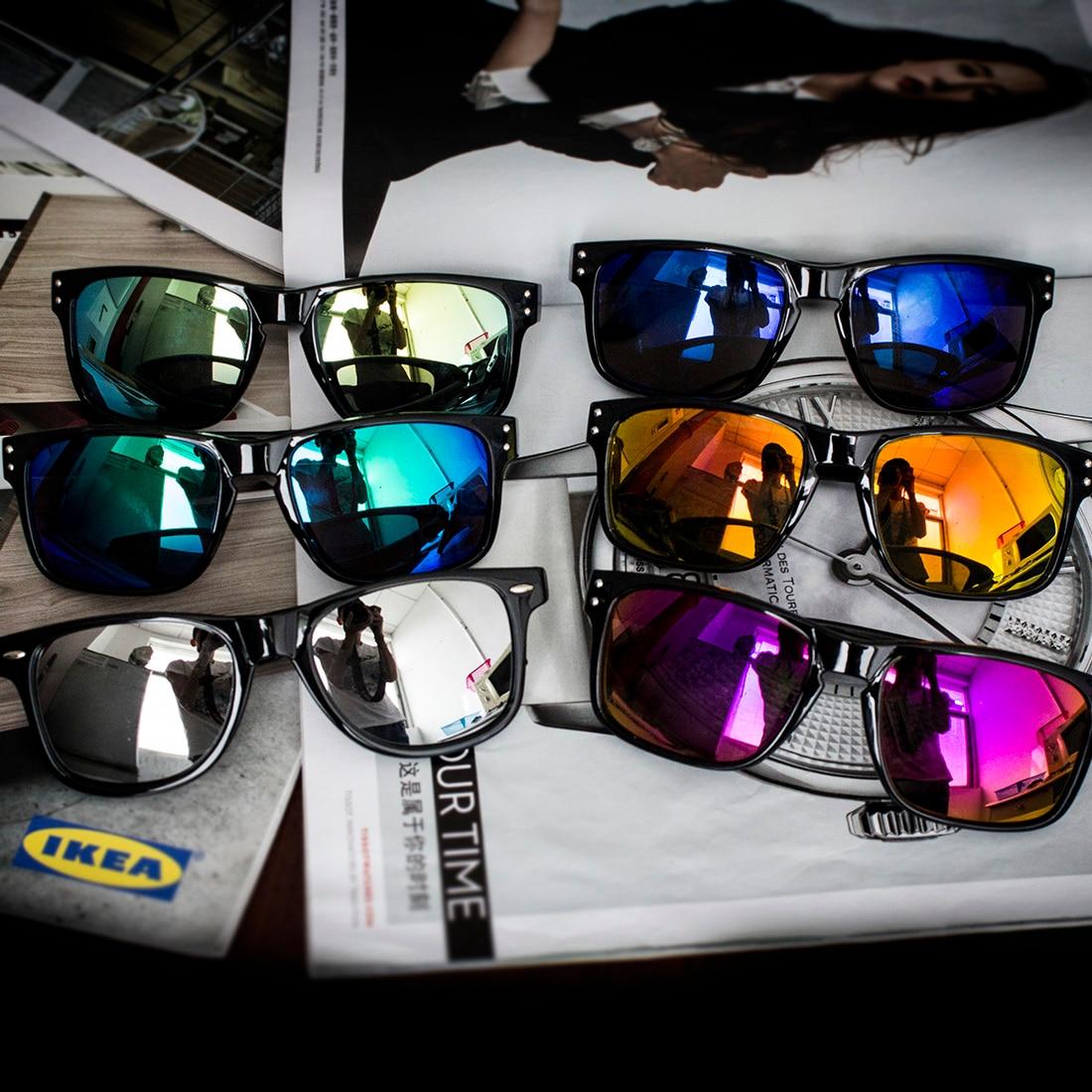 Fashionable Sunglasses Men Reflective Sports Sun Glasses Outdoors Square Eyewear Gafas De Sol Oculos De Sol Feminino