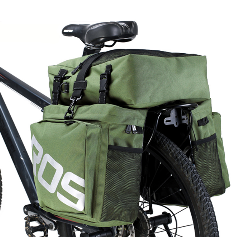 все цены на MTB Mountain Bike 37L Bags 3 in 1 Multifunction Cycling Bicycle Bag Sacoche Bycicle Frame Bag Pannier Waterproof Basket BG0022 онлайн