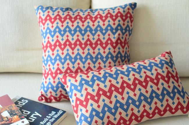 American Countryside Minimalist Stripe Pattern Lumbar Pillow Linen Cushion Car Cushions Home Decor Pillows 2PCS/LOT