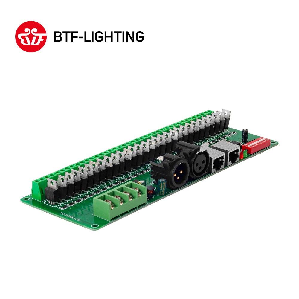 30 canal DMX 512 rgb LED bande contrôleur dmx décodeur pilote gradateur DC9V-24V