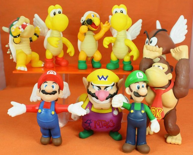 Hot Cute  Family Super Mario Bro Toys  Action Figure Free Shipping
