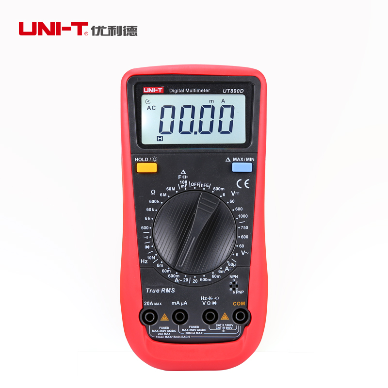 UNI-T UT890D Digital Multimeter True RMS AC/DC Voltage Current Resistance Testers Free Shipping цена