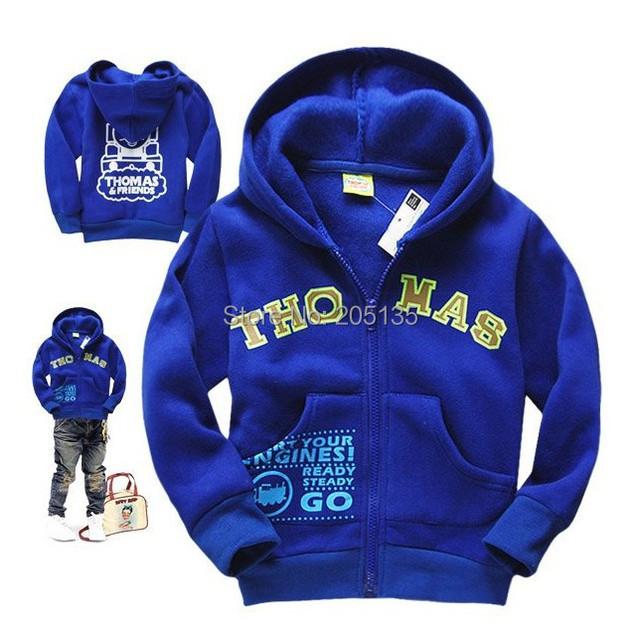 2014 Nuevo Bebé niños chaqueta con capucha sweater niños de la historieta niños casuall deporte escudo abrigos niño