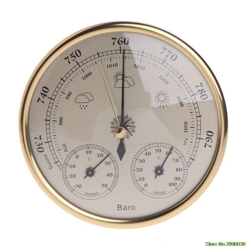 Montado en la pared del hogar barómetro termómetro higrómetro estación meteorológica colgante