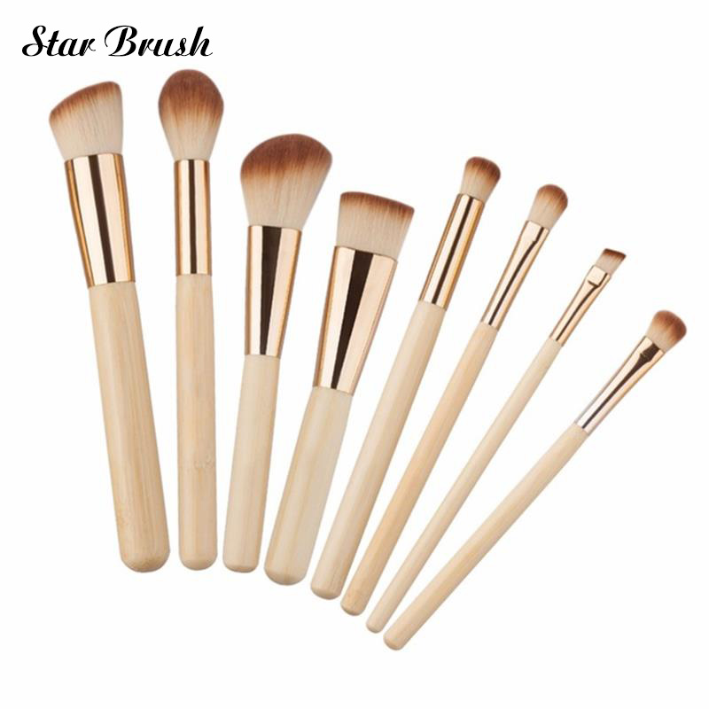 New 8pcs/set Professional Makeup Brushes Set Kit Facial Cheek Eyebrow Eyeshadow Powder Foundation Brush Cosmetics Make up Tools kesmall 10pcs professional makeup brushes set facial eyebrow eyeshadow powder foundation brush cosmetics make up tools co430