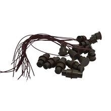 (10 ADET) Kahverengi Renk Kablolu Manyetik Anahtarı Kapı Açık Alarm Gizli kurulum NC Röle Çıkışı mıknatıslı kapı Kontak sensörü
