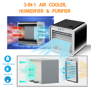 Image 3 - Convenient New Mini Portable Air Conditioner Humidifier Air Cooler Space Easy Cool Purifies Big Wind Fan for Home Office Desk