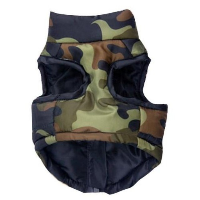 Dogbaby Pet clothes Camouflage printing Dog coat Jacket Pet Camouflage Cloth Dog Clothes Winter Pet Cotton Vest for dogs SG25