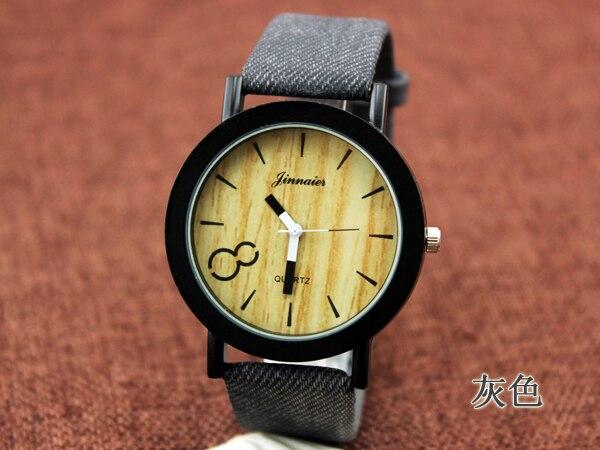 Fashion Vintage Leather Wood Grain Analog Ladies Quartz-watch Hour Clock Female Watch Women Montre Femme Orologi Donna 10pcs