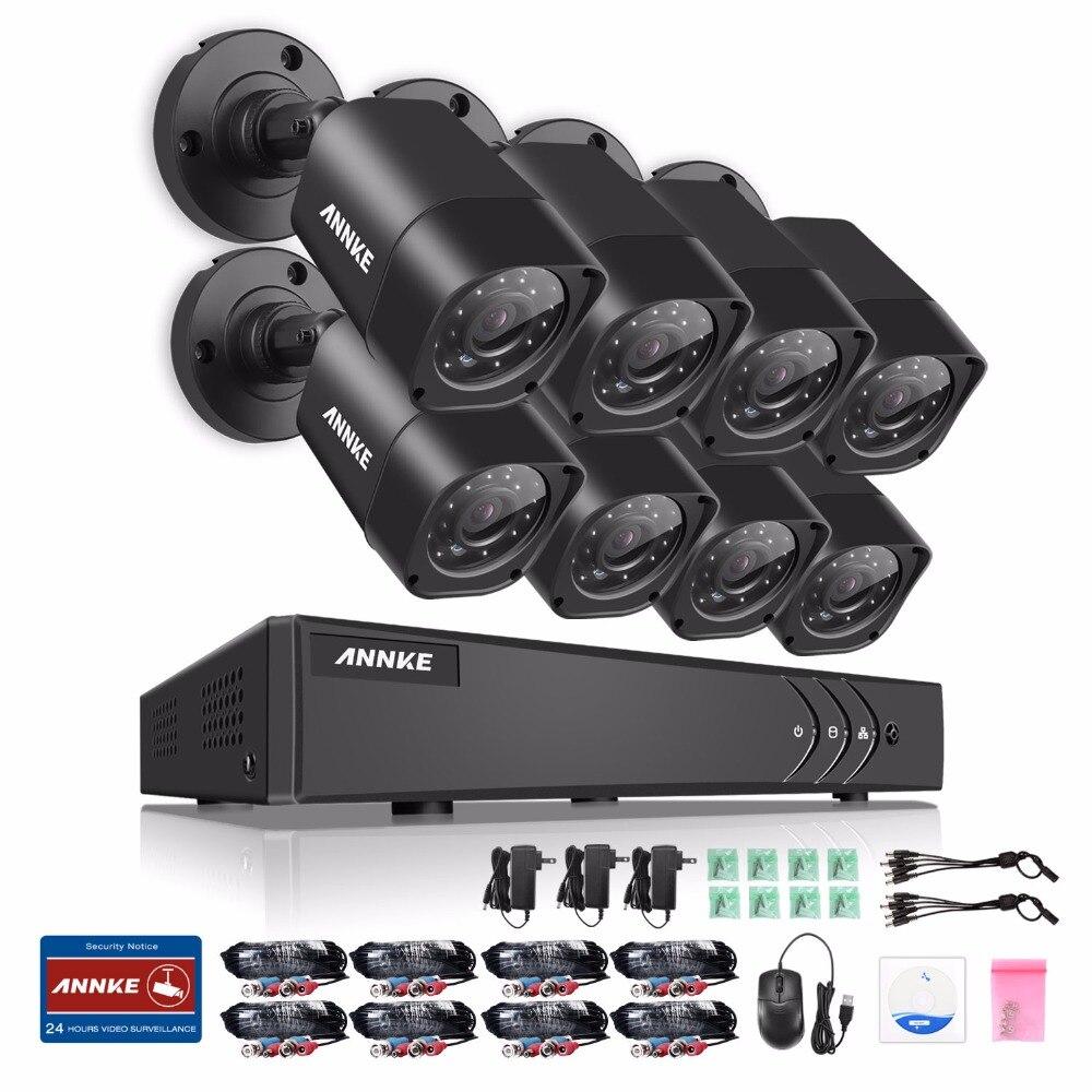 bilder für ANNKE 4 in 1 TVI CCTV Kit DVR 8 STÜCKE 1,0 MP 720 P Outdoor Home Überwachung Überwachungskamera-system KEINE HDD