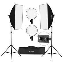 """CZ Lager Fotografie Andoer Studio Softbox LED Licht Kit 20*28 """"Softboxen 45W 2700K/5500K Led leuchten + 2M Licht Stehen Tragen Tasche"""