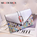 woman brand mini bags 2017 silver envelope clutch women messenger bags cross body shoulder diamonds bag ladies handbag Bolsos