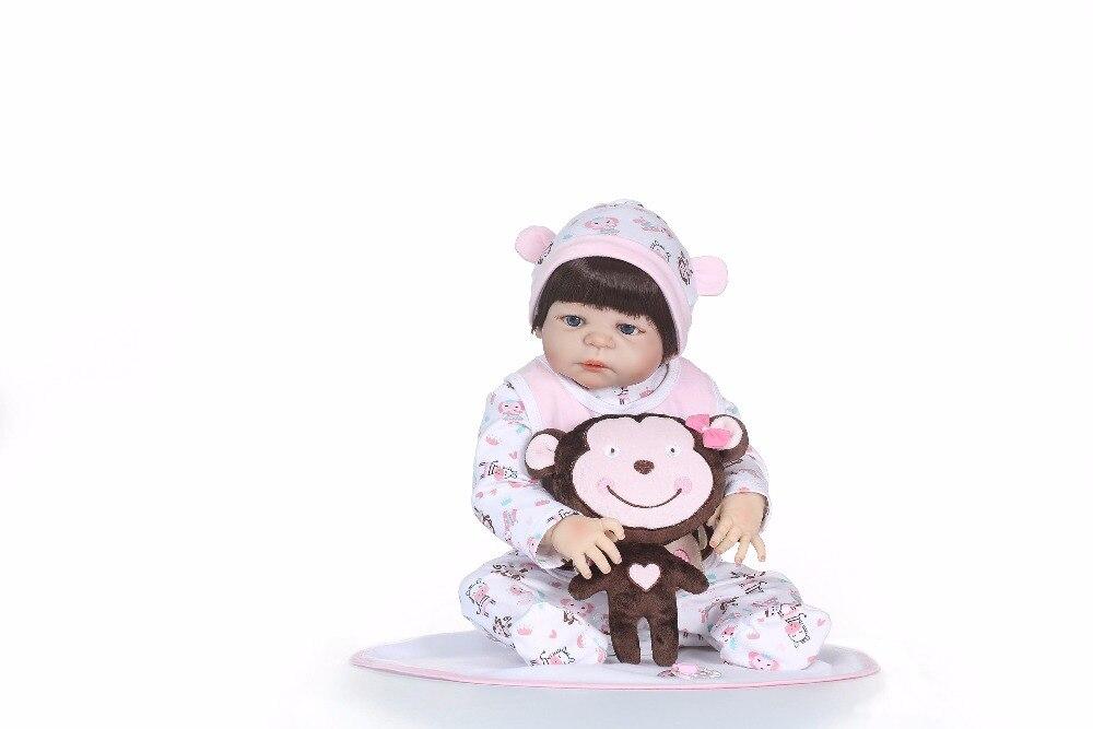 NPK 56 centimetri corpo pieno di Silicone reborn baby Doll Caldo ToyReborn Bambole Giocattoli Per bambini Carino Principessa FAI DA TE Bambole Ragazzo ragazza Brinquedos Regali-in Bambole da Giocattoli e hobby su  Gruppo 3