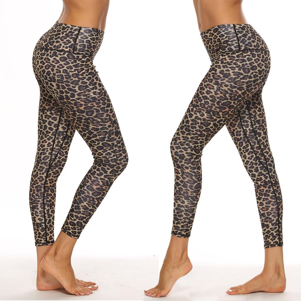 Women Leopard Cheetah Print Leggings Pocket High Waist Casual Leggings Sportswear New Fitness Leggings Workout Running 7.12