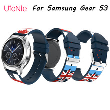 Fashion wristband 22mm printed silicone bracelet for Samsung Gear S3 strap huami amazfit stratos 22S 46mm watchband