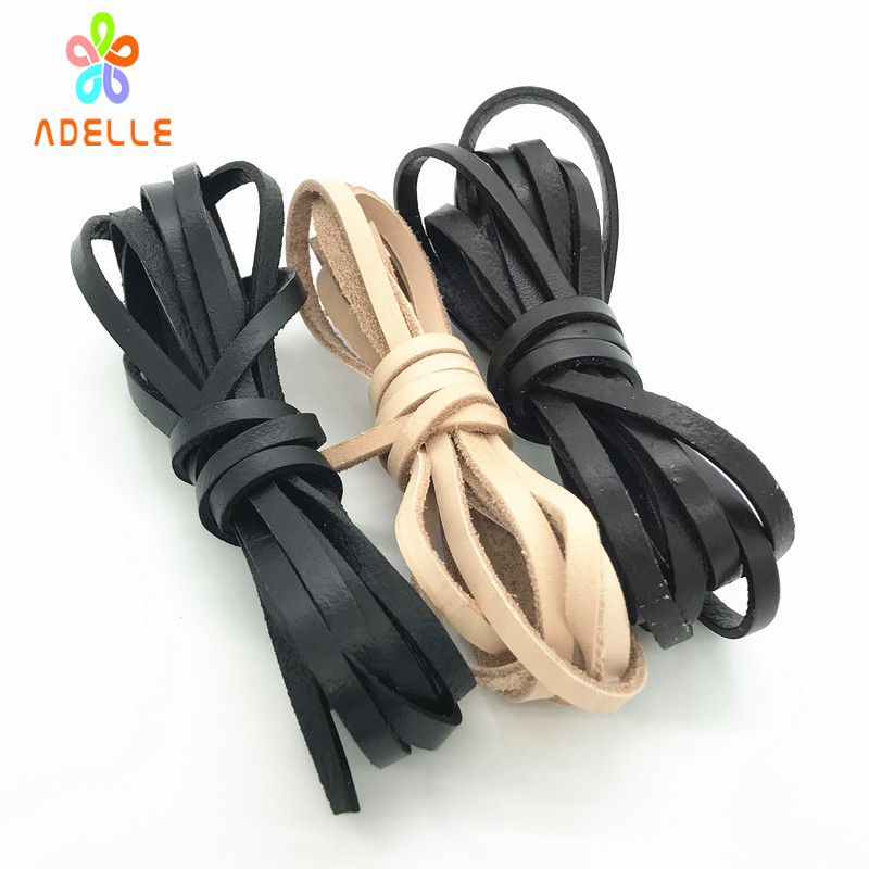 3 color Geniune Cowhide Leather Cut strips Rope Hide Flat 2/3/4/5/8/10/12/15/20mm Tan Black Coffee DIY belt free shipping 10m ...