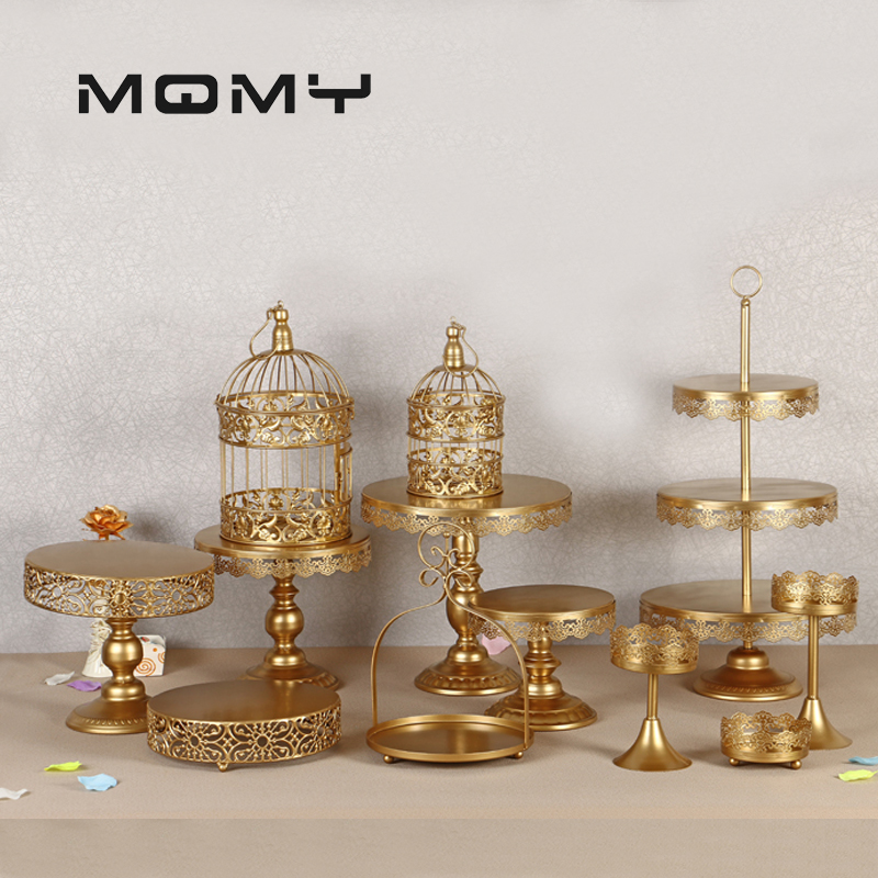 Crystal Metal Cake Stand Holder 12 Pcs Set Cupcake Serving Stand Display Rack Birthday Party Wedding Decoration Gold White in Cake Decorating Supplies from Home Garden