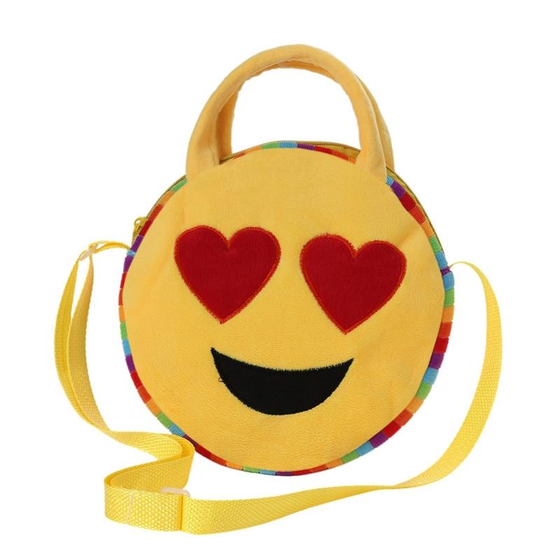 Scuola Totes Emoji Bag Carino Bambino Emoticon Satchel Spalla 18UnRqz