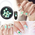 Mezclar la Forma Verde Ópalo Rhinestone Para Nail Art Decoraciones DIY Belleza de Uñas Gems 3D Nailart Cristal Joyería Nails Accesorios